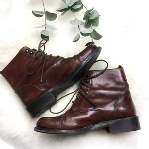 Bally Brown Lace-Up Belize Boots